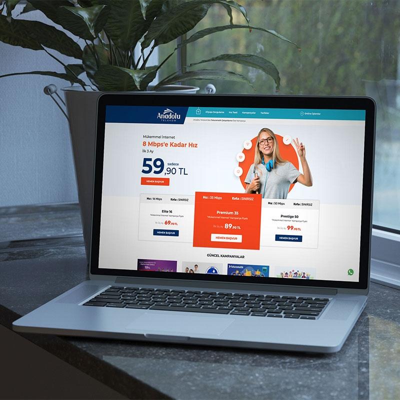 Anadolu Telekom Web Sitesi