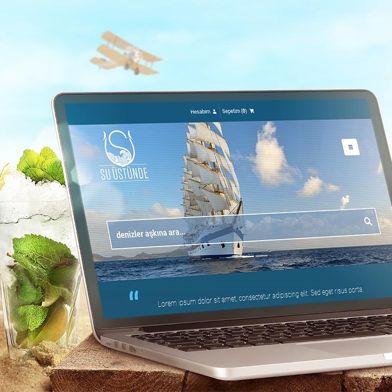 Su Üstünde E-Ticaret Web Sitesi